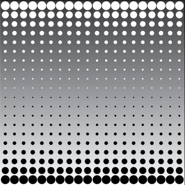 Black white halftone dots