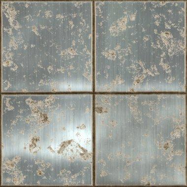 Large metal plates rusty