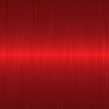 Brushed red metallic background with central highlight stock vector