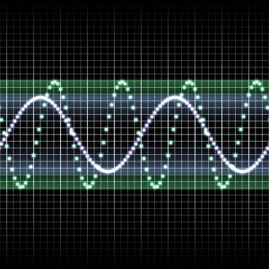 Green soundwave