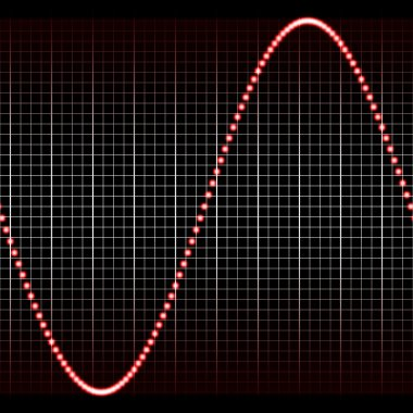 Sl simple red sound wave