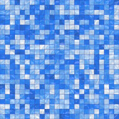 Small blue tiles