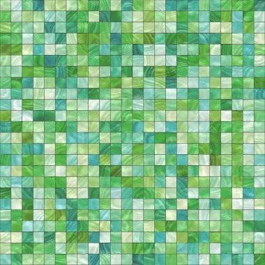 Small green tiles
