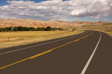 Empty highway in desert