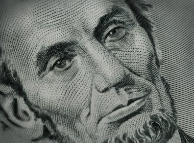 Close Up of Abe Lincoln on Money
