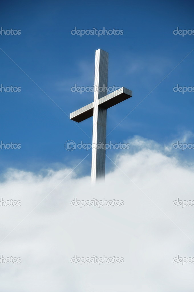 Chrisitan Cross in Clouds