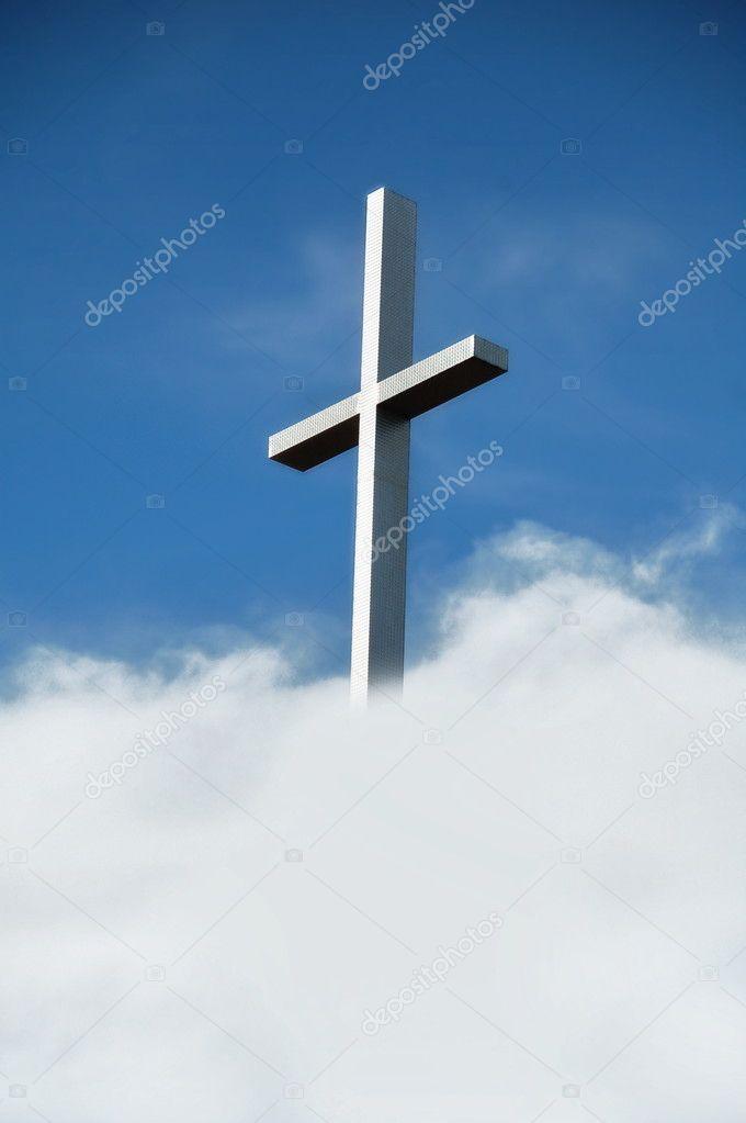 Chrisitan Cross in Clouds