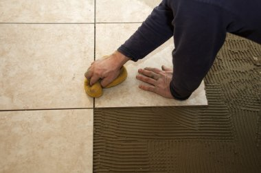 Sponging Ceremic Tile
