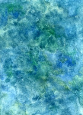 Handmade watercolor blue texture