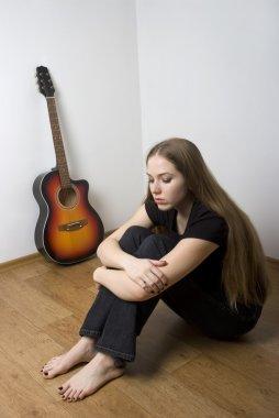 Sad guitarist