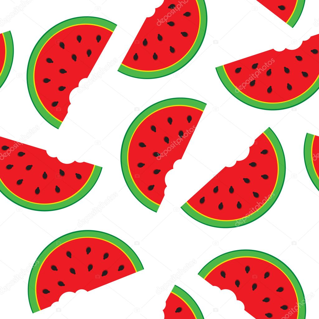 Seamless pattern with watermelon