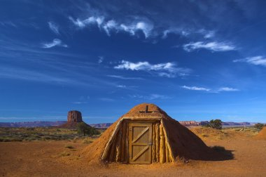 Hogan, traditional Navajo red clay house