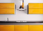 oranžové kuchyně 3d