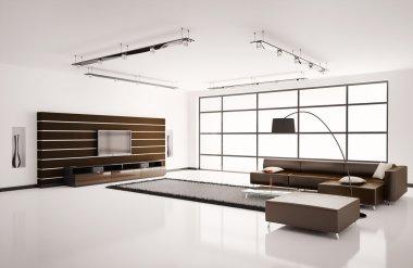 Living room interior 3d