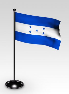 Small Honduras flag clipping path