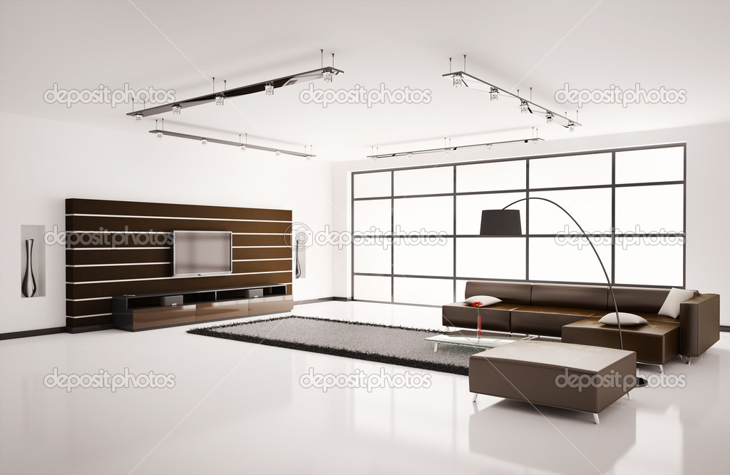 Woonkamer interieur 3d — Stockfoto © scovad #2270241