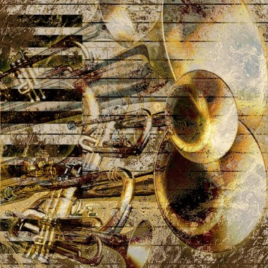 Abstract grunge music background
