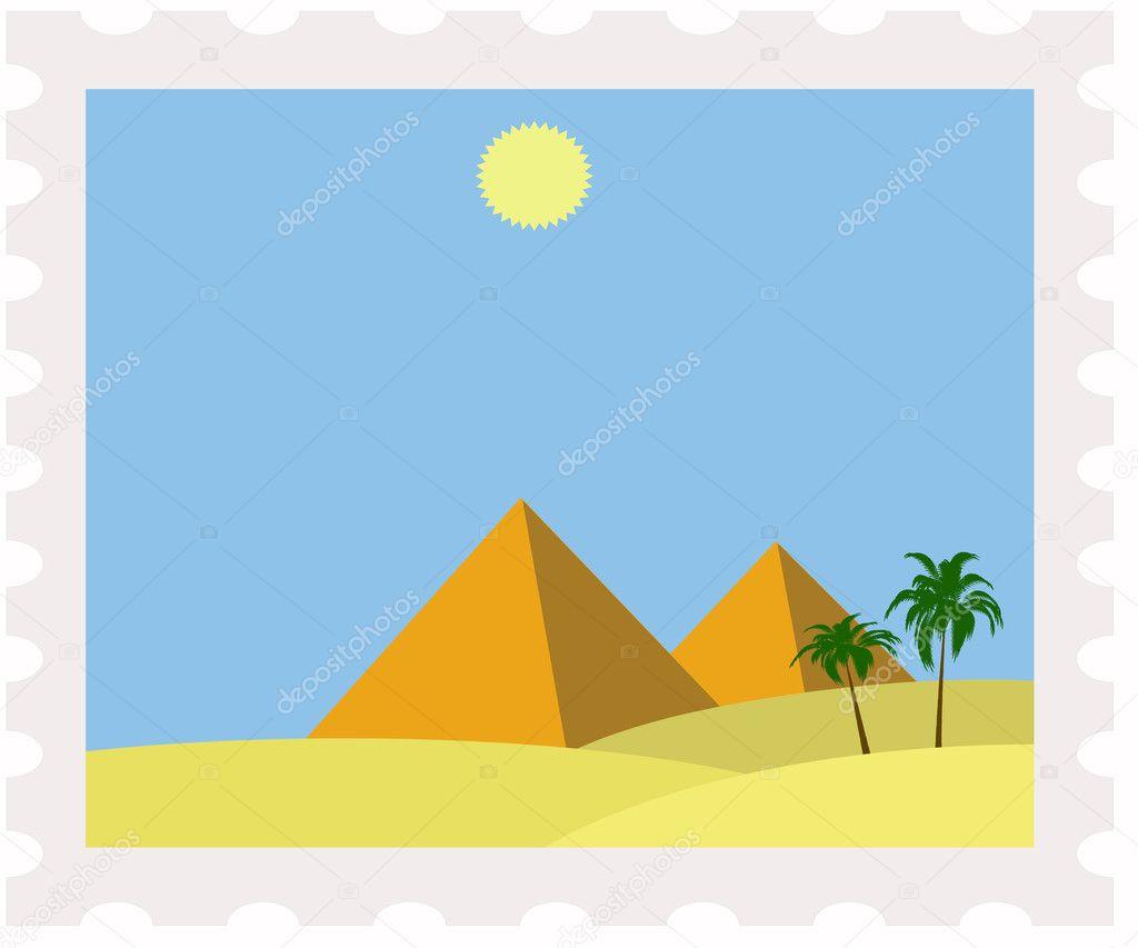 Рисунки пирамиды в египте карандашом