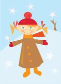 holčička v zimě