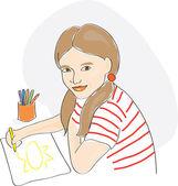 žena kresba