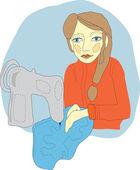 žena šití