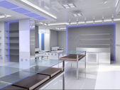 modernes Interieur. 3D-Darstellung