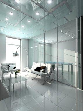 3d design of modern office.