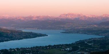 Sunset scenery from uetliberg
