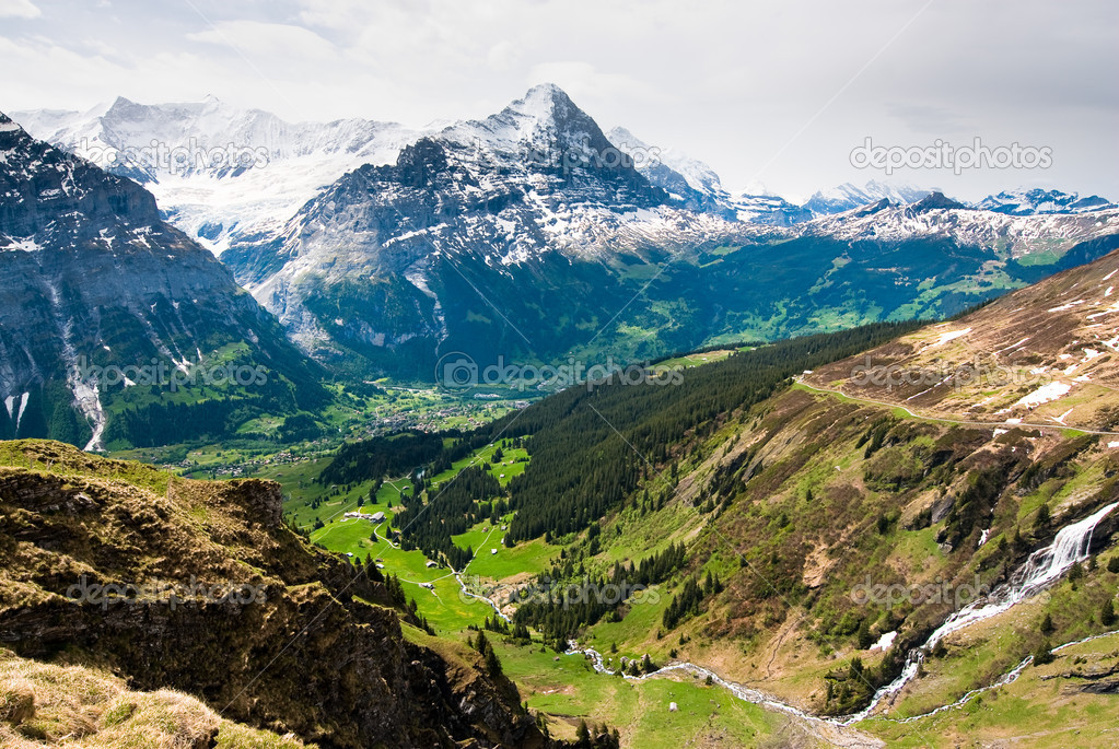 Grindelwald valley and Eiger