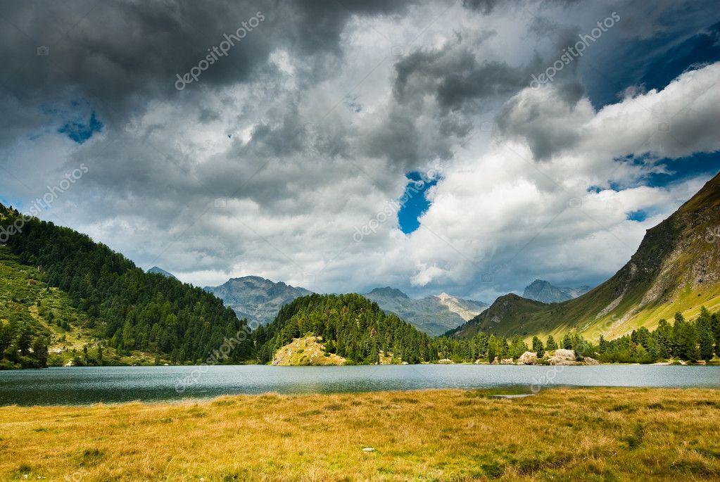 Mountain lake near maloja