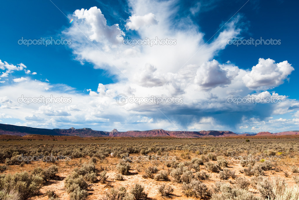 Utah sandstone cliff panorama