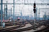 Fotografie železniční tratě v zuerich hlavní nádraží