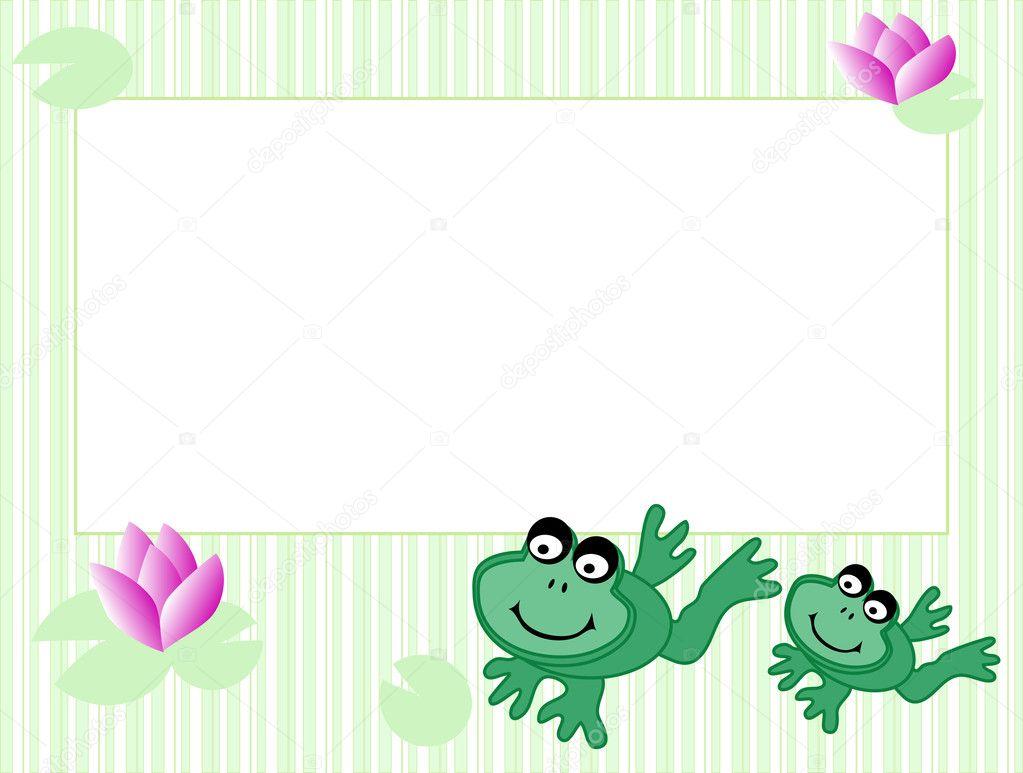 marco con ranas — Vector de stock © sarininka #2372651
