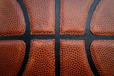 Basketball - Leather Close Up
