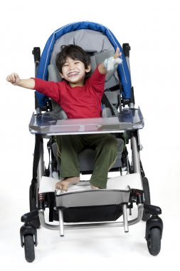 Three year old disabled boy