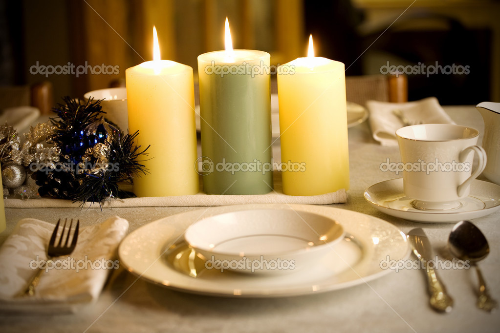Dinner Setting simple dinner table setting — stock photo © jarenwicklund #2630464