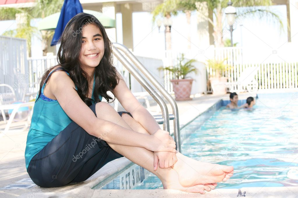 Young teen girls in pools 4
