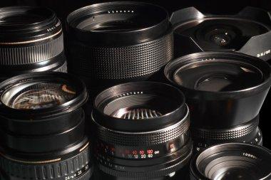 Photo camera lenses.