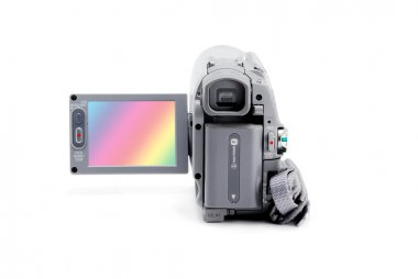 Compact video camera with viewfinder