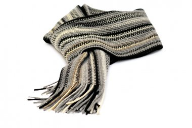 Knotted scarf isolated over white