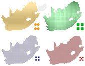 pixel mapa jižní Afriky