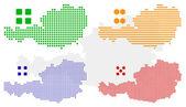 vektor pixel mapa Rakouska