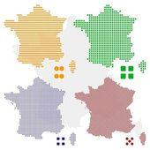 pixel mapa Francie