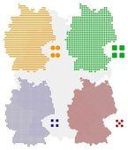 pixel Mapa Německa