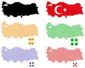 pixel mapa Turecka