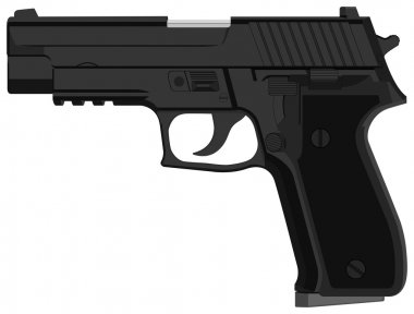 Illustration set of pistol in vector stock vector