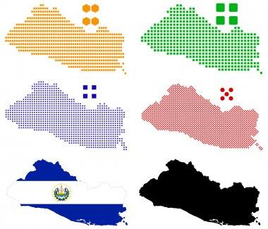 Pixel map of El Salvador