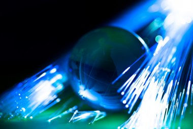 Earth and fiber optics
