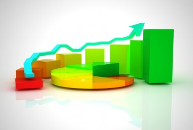 Business graph, chart, diagram bar
