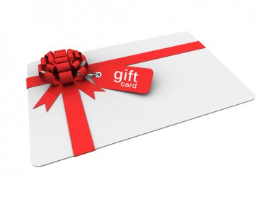 Gift card with bow and price tag
